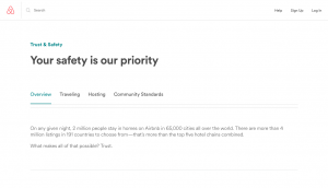 Airbnb safety policies