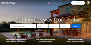Homeaway.com Airbnb Competitors landing page