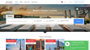 Agoda.com Airbnb Competitors landing page