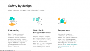 Airbnb's detailed safety practices